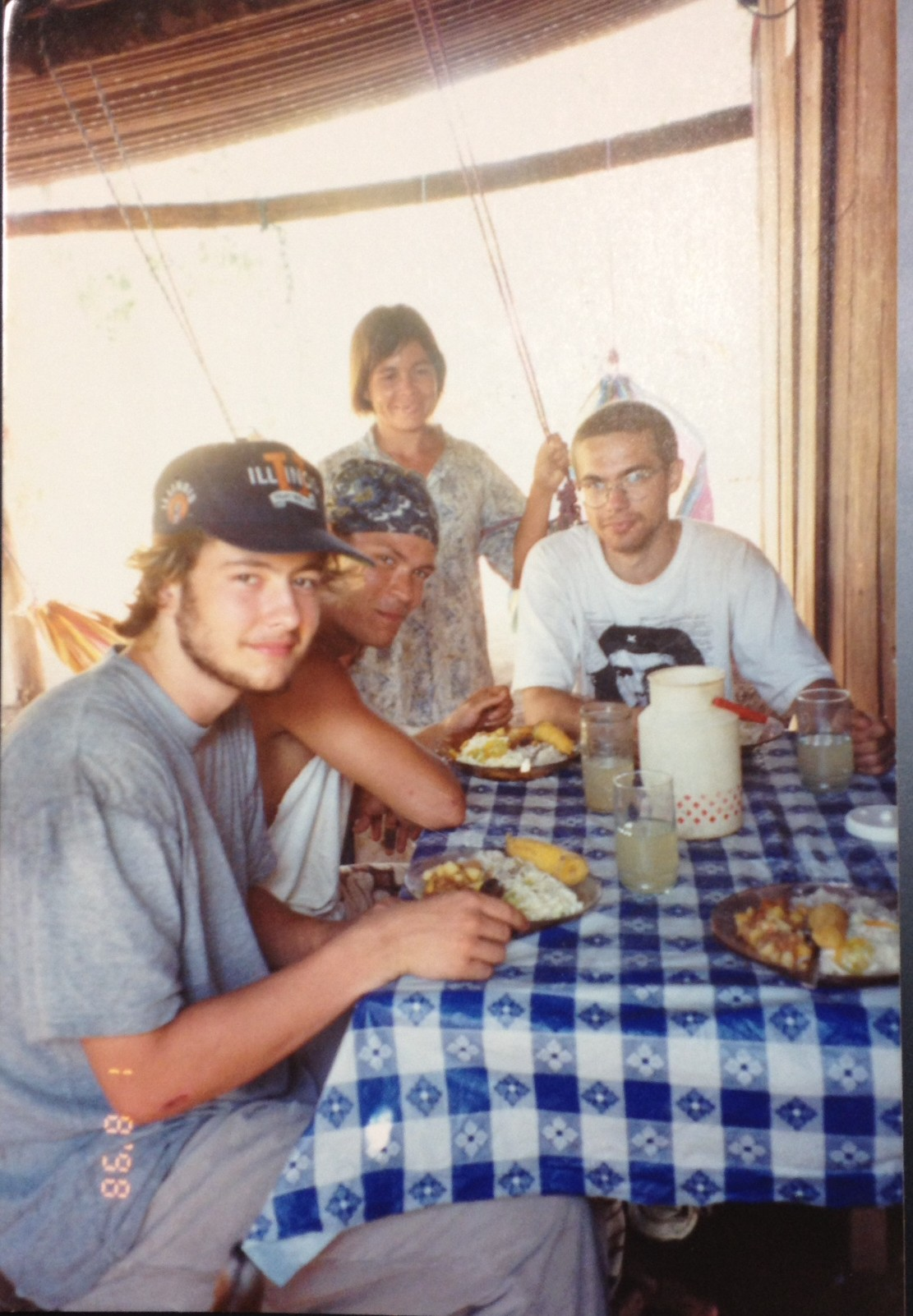 Me, Sam and Exan having lunch in Nicaragua